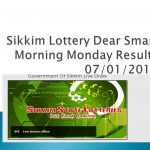 Sikkim Lottery Dear Smart Morning Monday Results