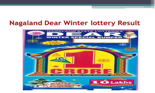 Nagaland Dear Winter Special Bumper Lottery Result 3 12 2019 Released 4 30 Pm I hope they don't make fun of you. nagaland dear winter special bumper