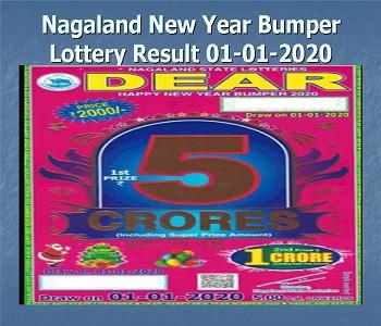 Nagaland lottery result 2020