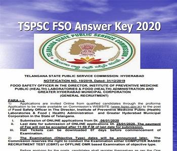 TSPSC FSO Answer Key 23-02-2020 Download Paper 1,2 Food ...